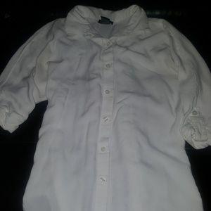 Tops - Junior's size XS white button down shirt